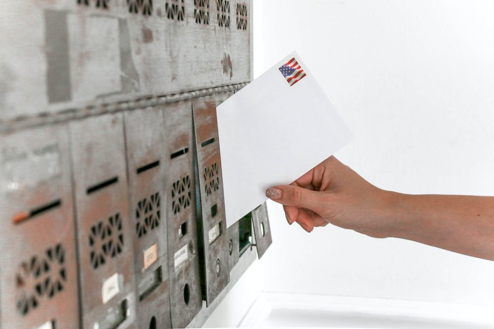 Posting mail in mailbox.